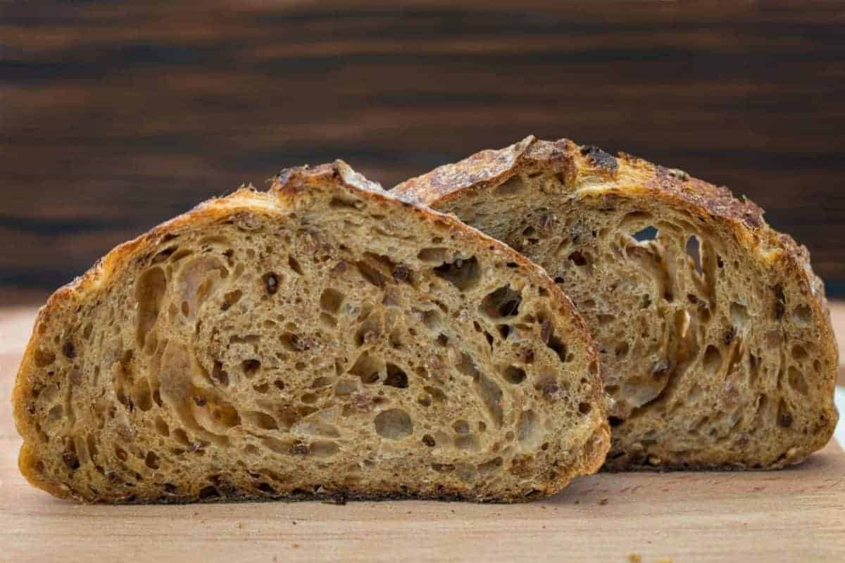 image of WHOLE WHEAT BREAD WITH SOURDOUGH
